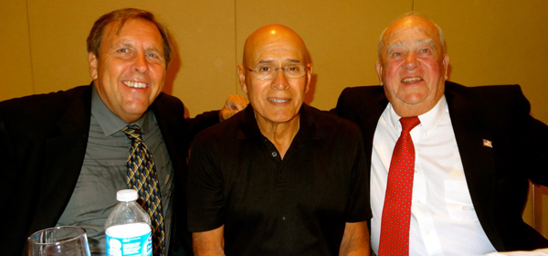 Sal Rodriguez, middle, flanked by Mark Patton, left, and Maury Halleck, right.