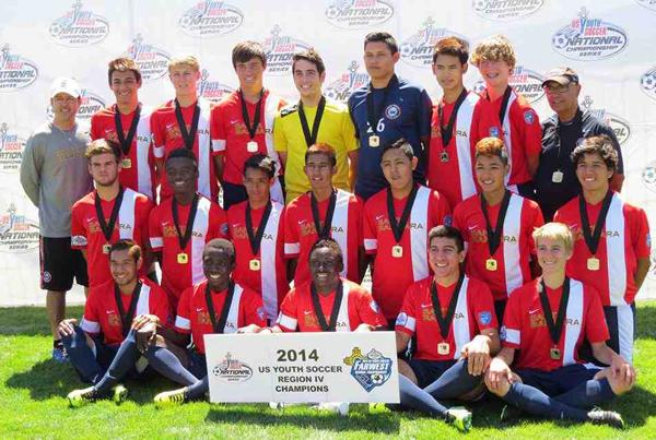 The Santa Barbara Soccer Club's Under-16 team won its third straight U.S. Youth Soccer Far West Regional championship.