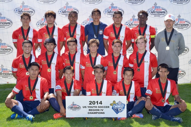 The Santa Barbara  Soccer Club's boys Under-18 team is making its U.S. Youth Soccer National Tournament debut.