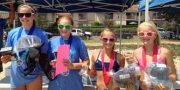 Ellie Gamberdella, left, and Alison Minnich won the Girls 12s title over Hayden Randolph and Noelle Rutz.