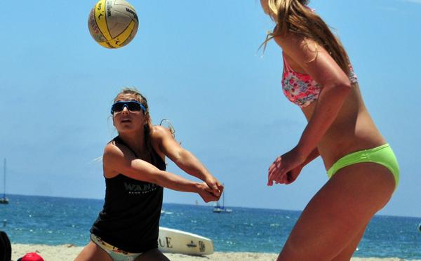 Katie Spieler and her cousin Torrey Van Winden are back to defend the title in the CBVA Santa Barbara Open.