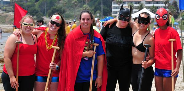 Superhero Outrigger Canoe Team