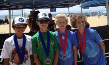 Camden Millington, left, and Dylan Foreman won the Boys 12s title over Caden Rogers and Finnegan Walker.