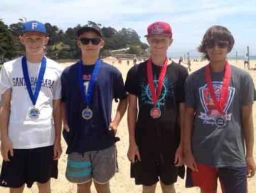 Parker Crossland, left, and Dane Westwick won the Boys 14s division over Kyle Cobian and Keagen Benson