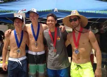 The Santa Ynez duo of Brett Filippin, left and Blake Lockhart won the Boys 18s title over Hayden Millington and Quinn Denkensohn.