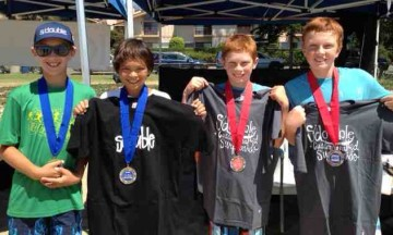 Dylan Foreman, left, and Camden Millington topped Adam and Michael Luckhurst in the Boys U12 final.