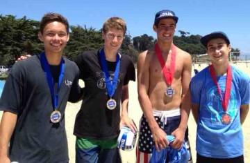 SBHS teammates Hayden Millington, left, and Kyle Skinner won the Boys 18s title over Michael Neary and Sam Eisner.
