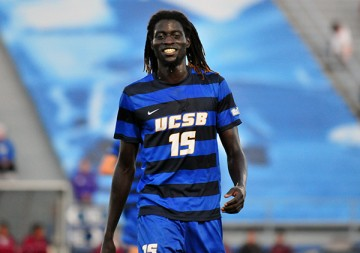Ismaila Jome is one of three Gauchos on the Preseason All-Big West Team. The others are Nick DePuy and Drew Murphy.