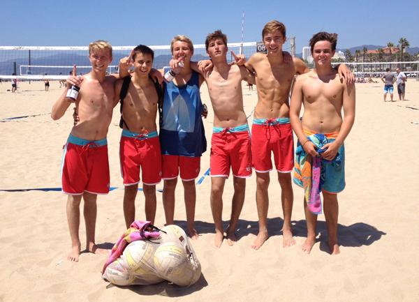 San Marcos' beach volleyball team