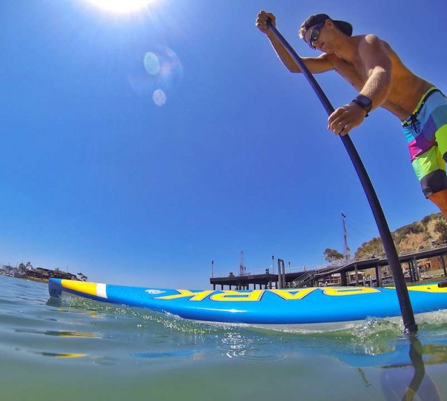 Stand-Up Paddle surfing has taken Santa Barbara's Matt Becker all over the world. He is one of the elite competitors in the sport. (Photo courtesy of Matt Becker)