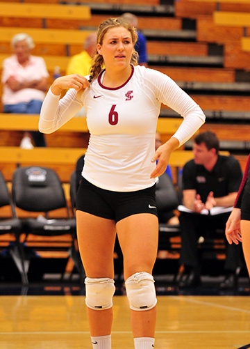 Santa Barbara High alum Dani Rottman led the West Coast Conference in digs this season.