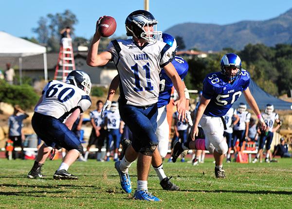 Laguna Blanca quarterback Stephen McCaffery