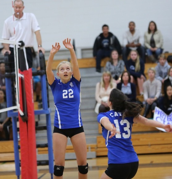 The improvement of setter Hannah Barr (22) has been a big part of Cate's success.