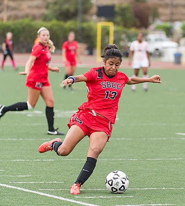 Sandy Grimaldo recorded a hat trick to lift SBCC past Ventura for the WSC North title.