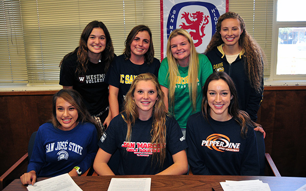 Seven student-athletes from San Marcos officially made college commitments today. (Presidio Sports Photos)