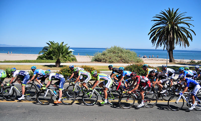 The first mile of Stage 5 will be along the Pacific Ocean in Santa Barbara. (Presidio Sports File Photo)