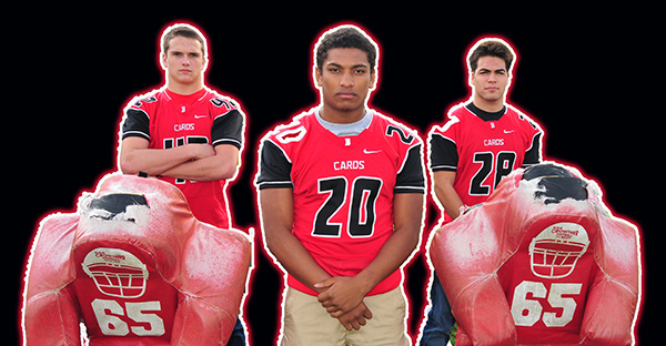 Bishop Diego's (l to r) Matt Shotwell, Abel Gonzalez and Isaac Salcedo are Presidio Sports' All-City Players of the Year for 2014.