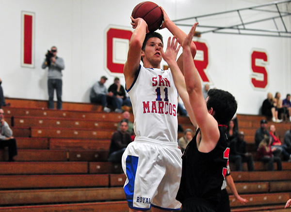 San Marcos' Scott Everman totaled 20 points and eight rebounds in Friday's victory over Rio Mesa.
