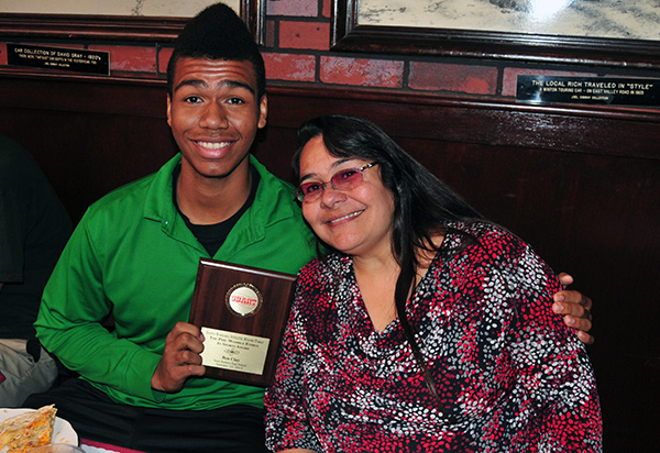 Ben Clay, the Phil Womble Ethics in Sports winner, is joined by his mother, Tina.
