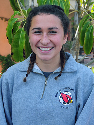 Jill Giannini is the leading goal scorer for the Bishop Diego girls soccer team.