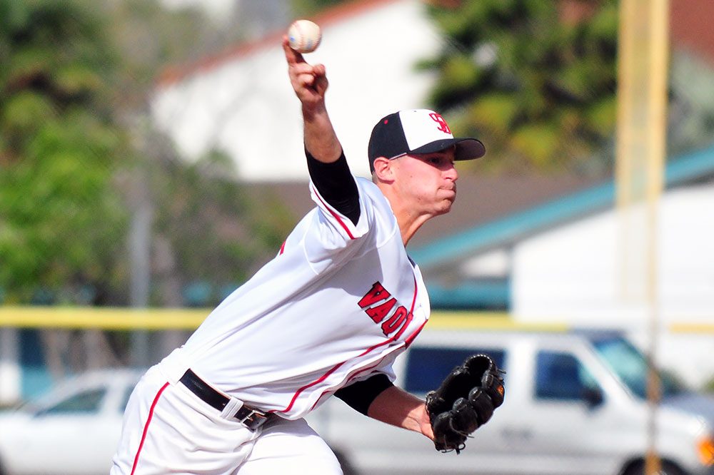 SBCC starting pitcher Justin Bruce picked up the victory on Friday. (Presidio Sports Photo)