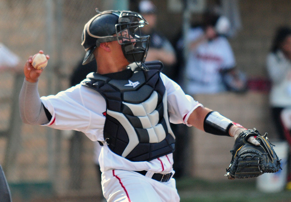 SBCC catcher James Hill was 3-for-6 on Thursday.