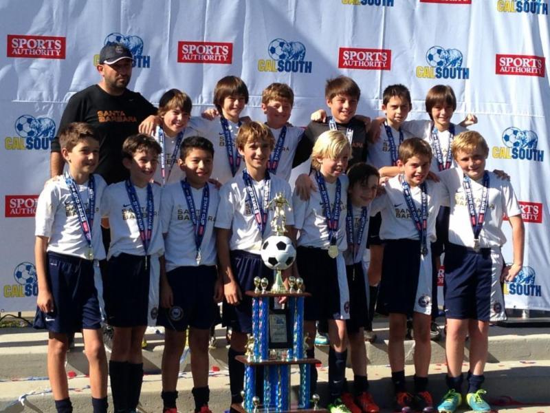 Santa Barbara Soccer Club's champion U11 Blue team.
