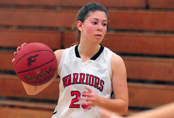Carpinteria sophomore Tori Kelley led the Warriors with eight points on Thursday.