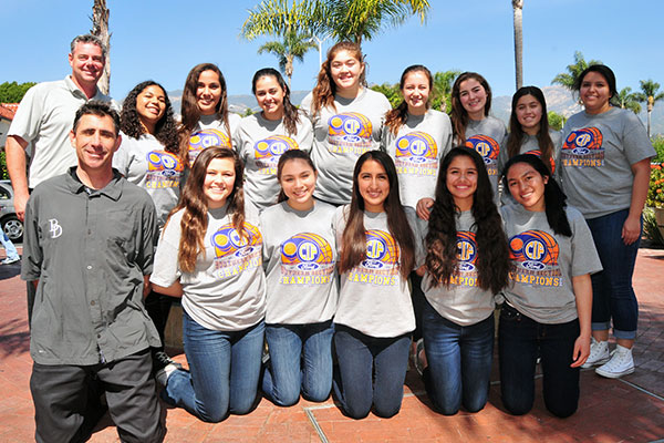 Bishop Diego's girls basketball team