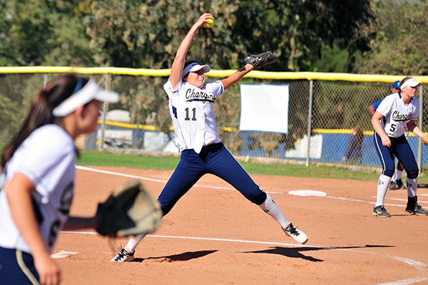 Lani Evans recorded a no-hitter for Dos Pueblos in a Channel League game on Tuesday. (Presidio Sports Photos)