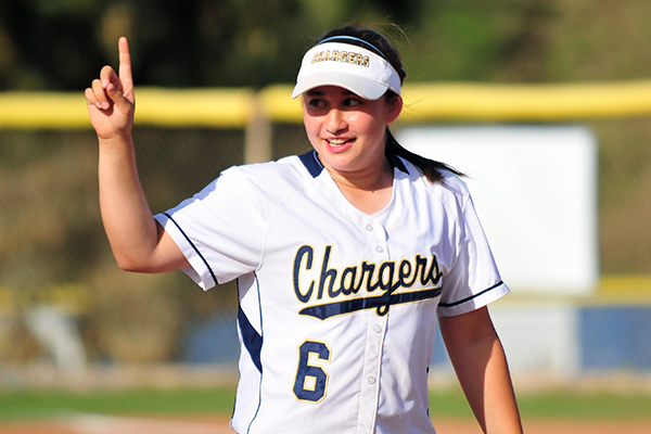 Jade Sinskul hit two homers in DP's CIF Division 4 playoff opener. (Presidio Sports photo)