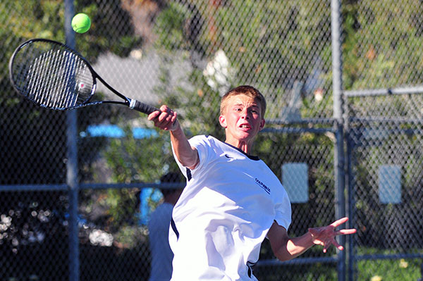 Dos Pueblos' Miles Baldwin claimed a set for the Chargers on Thursday.