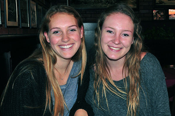 Santa Barbara High lacrosse players Sophia DiFilippo and Sophie Tate. (Presidio Sports photos)