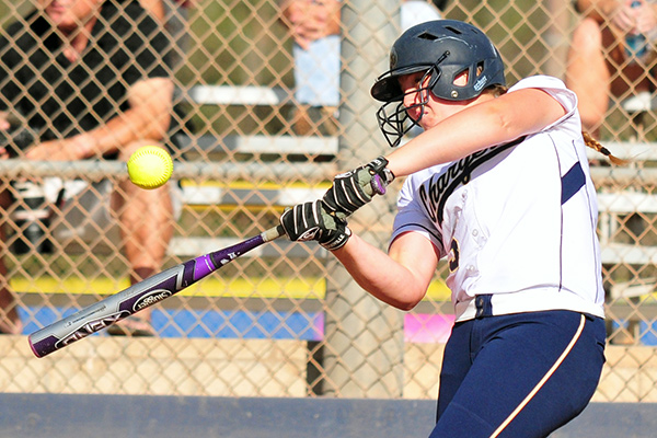 Dos Pueblos' Veronika Gulvin was one of five Chargers to hit a home run on Saturday. (Presidio Sports Photo)