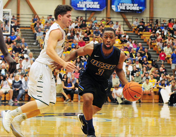 UCSB's Zalmico Harmon is one of two UCSB seniors - Alan Williams being the other - playing in their final Big West Tournament.