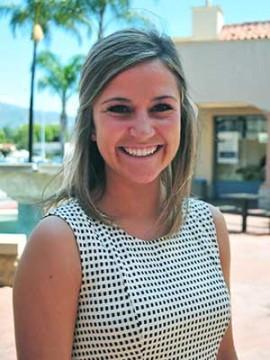 Christine Adams, Westmont's Scholar-Athlete of the Year.
