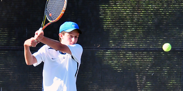 Mason Dochterman claimed two important sets for the Chargers in singles on Tuesday. (Presidio Sports Photos)