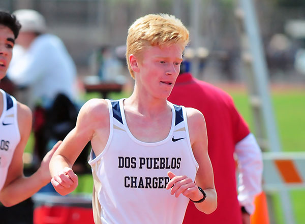 Dos Pueblos' Hunter Clark set meet records in the frosh-sops division.