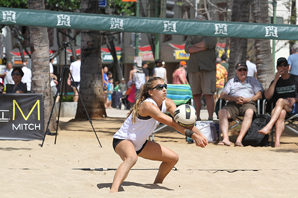 Katie Spieler is a key component of Hawaii's Sand Volleyball team, ranked No. 2 in the country. (Photo Courtesy of Hawaii Athletics)