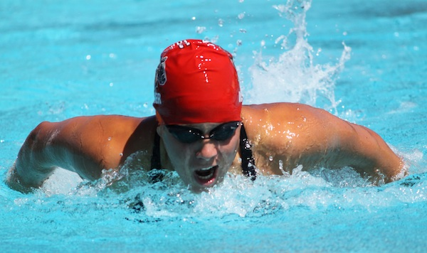 Rachelle Visser was named WSC Swimmer of the Year after winning three events at the WSC championshihps.