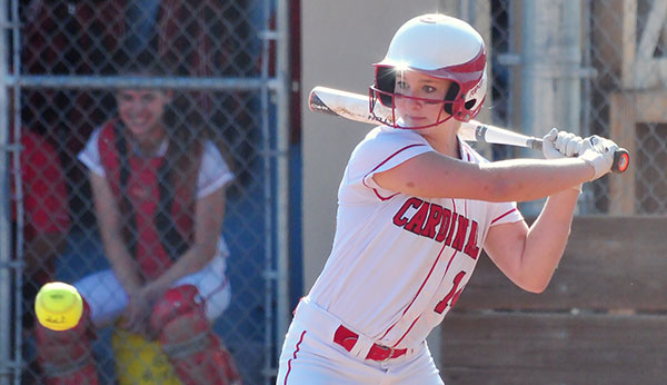 Bishop Diego's offense has scored 47 runs in two CIF games. Kara Murray pictured. (Presidio File Photo)