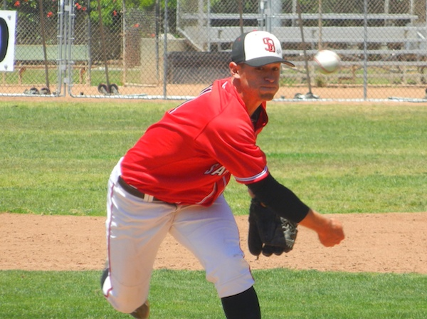 Justin Bruce needed only 65 pitches to beat Rio Hondo and clinch a playoff series for the Vaqueros