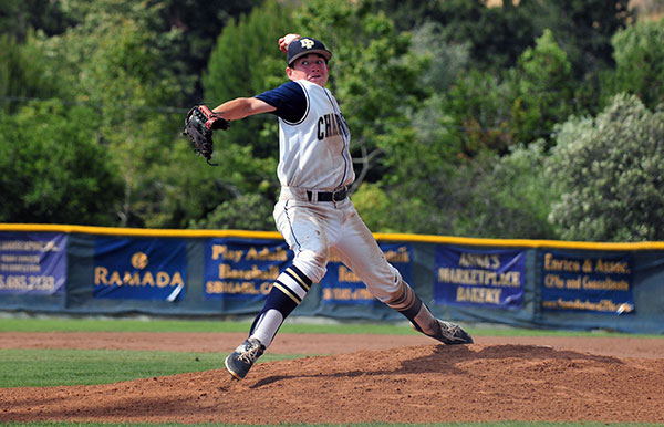 Travis Craven pitched four innings for Dos Pueblos in its second-round playoff game against No. 1 San Clemente.