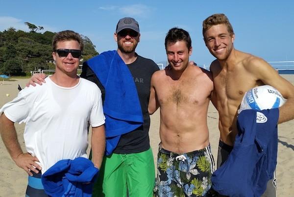 The Men's A finalists were, from left, Chad Arneson, Matt Riley, Kevin Davidson and Miles Maassen. Davidson-Maasen won the title, 29-27.