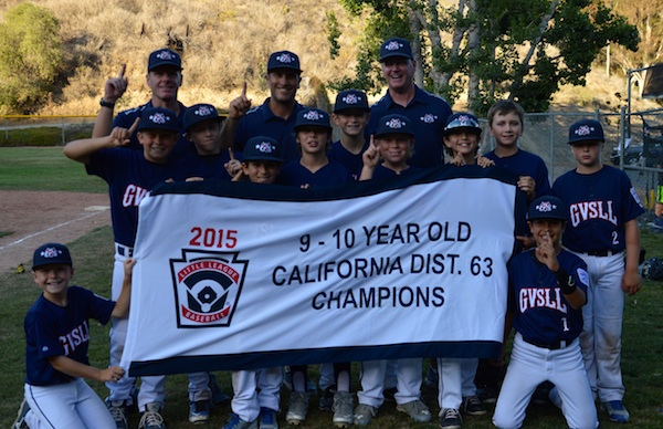 The Goleta Valley South 10-Under All-Stars won the District 63 championship.