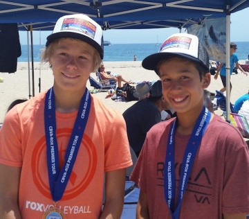 Alex Rottman, left, and Toby Still won the 12s division title.