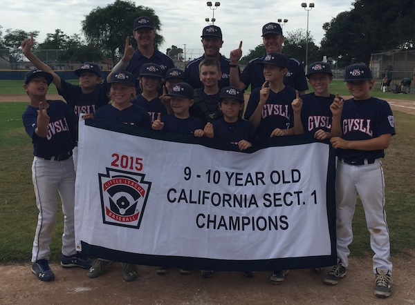 The Goleta Valley South Little League 10-Under All Stars won the Section 1 title.
