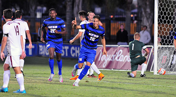 Kevin Feucht converted two penalty in a Big West win over UC Davis. (Presidio Sports file photo).