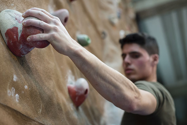 UCSB's Fun & Fitness Festival features the climbing wall at the RecCen.