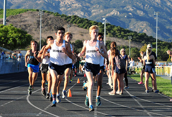 Hunter Clark, right, and Josh McGregor, left, were Dos Pueblos' top two runners.